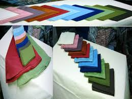 Napkins, fabric and non-woven textiles-mfpm