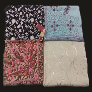 100% Merino wool Embroidered & Jacquard  shawls