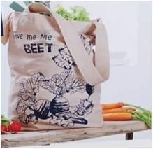 Printed Cotton Shopping bags Stock
