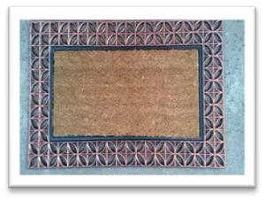 FANCY COLOR  COIR BRUSH RUBBER  GRILL MAT - Stock