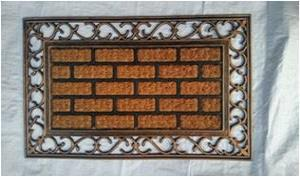 FANCY COLOR  COIR WITH RUBBER  GRILL MAT -Stock