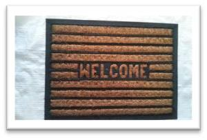 COIR WITH RUBBER MAT - Stock