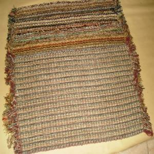 Chneille  multi stripe Rug Stock
