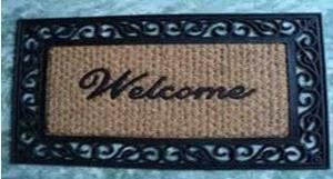 coir with rubber grill mat