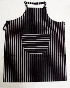 Heavy Quality Printed Stripe Apron Stock