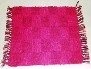 Designer Pattenred Cotton rugDesigner Pattenred Cotton rug Stock