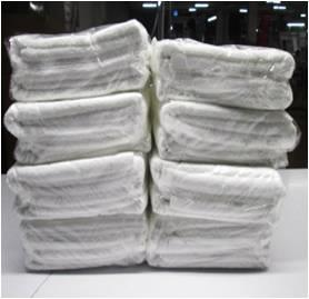 100% cotton white terry towel stock
