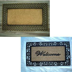 ? Fancy colour?  coir brush rubber grill mat Fancy