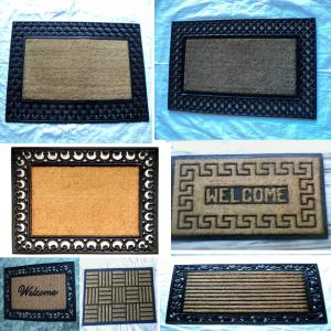 ? Coir Brush Rubber Grill Mat