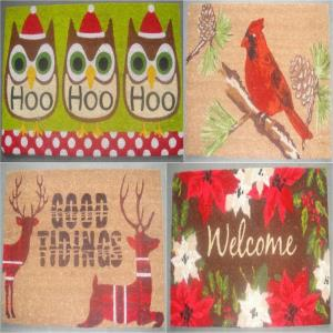 Pvc Backed Coir Doormats Bleached Printed