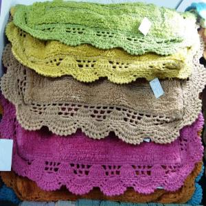 Embroidery Lace Bathmat