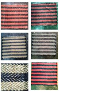 Herringbone Design Handloom Rug stock