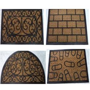 Rubber moulded mesh coir panama mat stock.