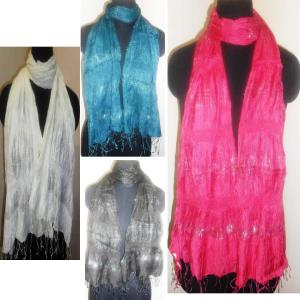 Silk-Viscose-Lycra scarf stock