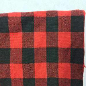 COTTON YARN DYED RED AND BLACK CHECKS FABRIC - 56""