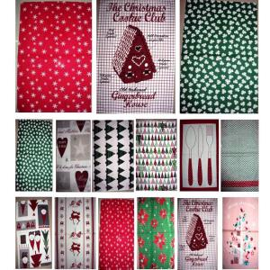 Christmas Design Kitchen towels stock