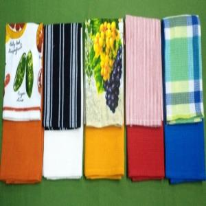 COTTON KITCHEN TOWEL SET  STOCK