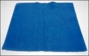 4 PK RIBBED PLACEMAT SET - BLUE STRIPE STOCK
