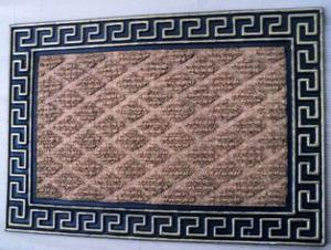 ET-171- FANCY COLOR COIR WITH RUBBER EMBOOSE GRILL  MAT STOCK