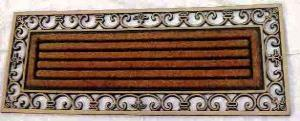 ET-375- FANCY COLOR COIR BRUSH RUBBER GRILL MAT STOCK