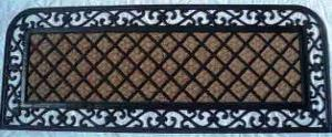 ET-879- FANCY COLOR COIR WITH RUBBER GRILL MAT STOCK