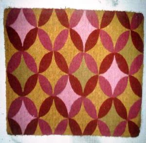 FM 2 Quality Printed  Hand Woven Coir mat stock