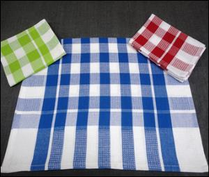 Medium Check Kitchen Towel stock