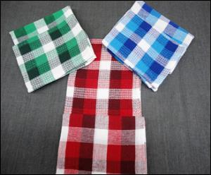 Multi Check Kitchen Towel Two Piece Set Stock