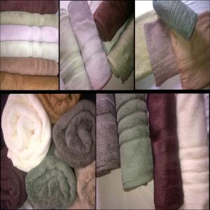 Micro cotton terry towels stock