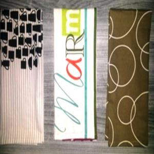 3 PC PRINTED KITCHEN TOWEL SET STOCK