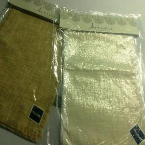 Slub Poly Raffia Runner & Placemats Stock