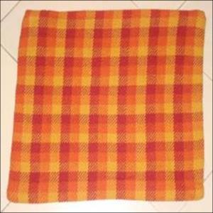 MULTI RED CHECK CUSHION COVER STOCK