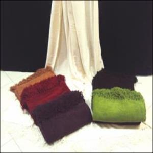 Chenille Throw Stock