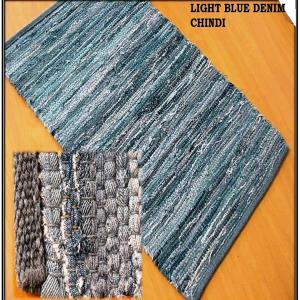 Denim Chindi Rug Stock