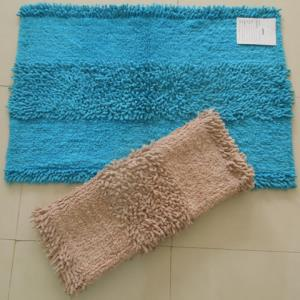 Chenile Shaggy Bathmats Stock