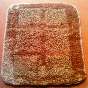 100% jute reversible bath mat Stock