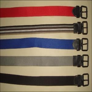 Webbing with 100% Pure leather belt Stock