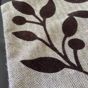 Woolen Cushion Cover  with Flock Print stock
