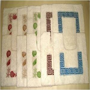 Printed 2 pcs Bathmat set Stock