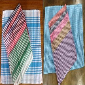 Check design Towel Stock