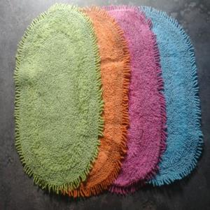 Oval Fringed bathmats Stock