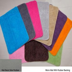 Micro Cotton rubber backed  bathmat Stock