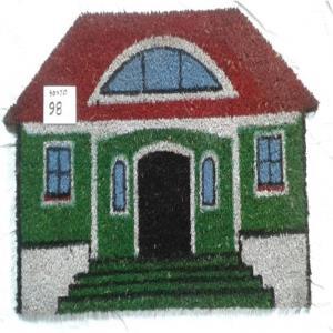 Printed PVC Backed Coir Door Mats Stock