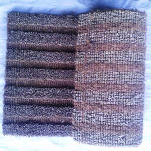 Hand Woven Grass Clipping  Coir Door Mat Stock