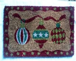 Christmas Designs  Printed door mats with PVC backing Stock