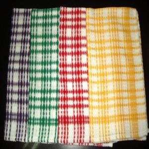 Check Designer Kitchen Towel Stock