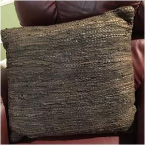 Leather Chindi  Cushion Covers Stock