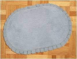 Oval Bathmat With Cotton Pleated Fringe Stock