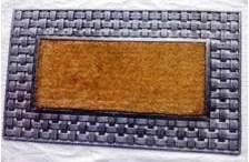 Fancy Color Coir Brush Rubber Grill Mat Stock