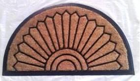Coir Brush Rubber Mat  Stock